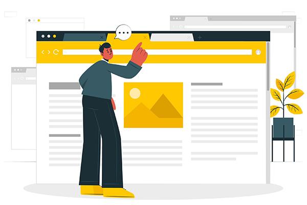 نمایش سایت در مرورگرهای مختلف