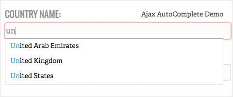 افزایش کاربردپذیری سات- AJAX AutoComplete for JQUERY