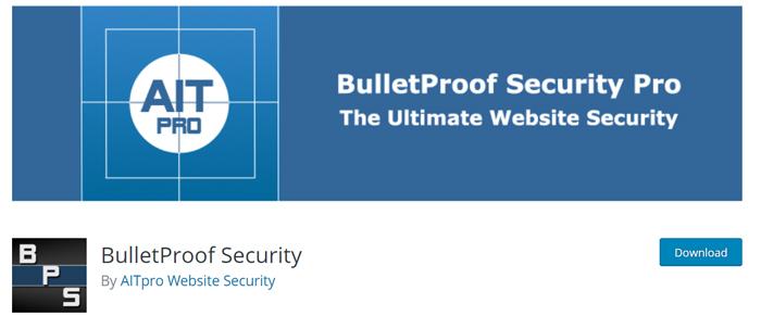 افزونه Bulletproof security pro