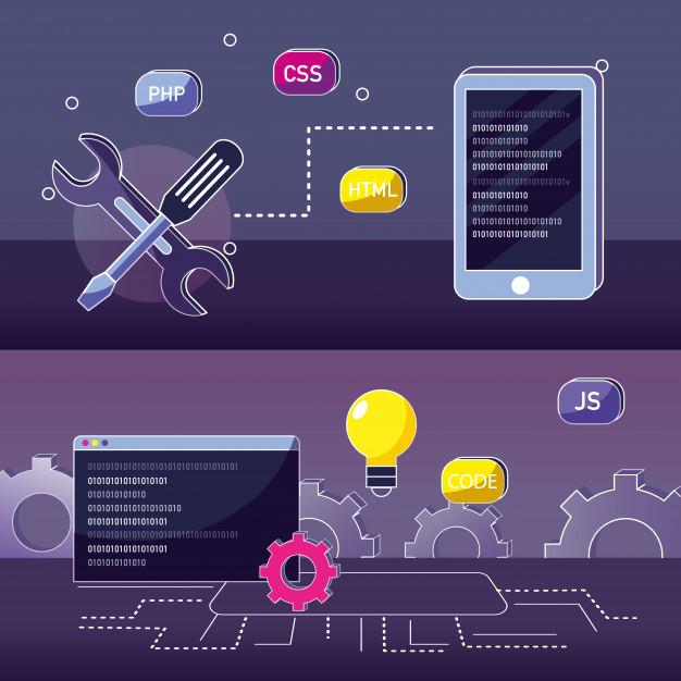 طرحی گرافیکی برای آموزش زبان برنامه نویسی PHP