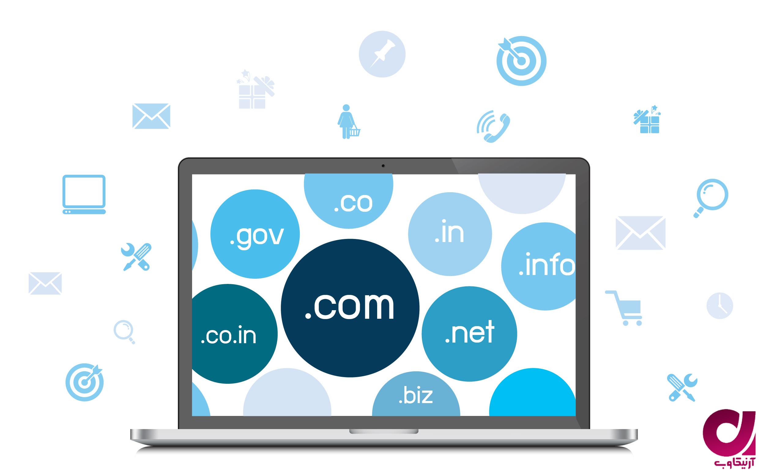 انواع دامنه برای ساخت وب سایت