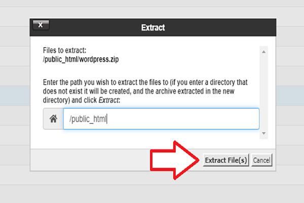 Extract کردن فایل ها