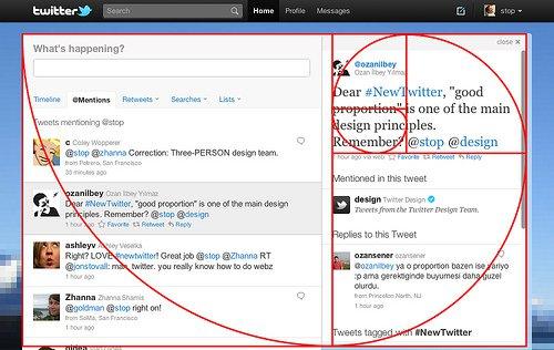 توییتر و عدد طلایی - اصول طراحی